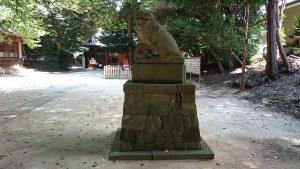 中山神社 明治3年狛犬 阿