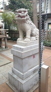 三河稲荷神社 狛犬 (2)