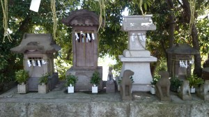 多摩川浅間神社 小御岳神社・稲荷神社・三峯神社・阿夫利神社