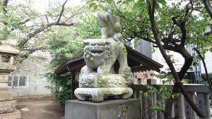 元三島神社 狛犬 阿