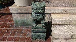 本社三島神社 狛犬 吽