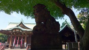 大森貴舩神社 狛犬 阿