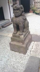 高輪神社 狛犬 (2)