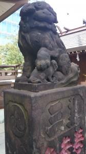 御穂鹿嶋神社 狛犬 (2)
