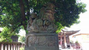 大森貴舩神社 狛犬 吽