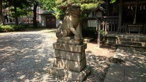 御園神社 狛犬 吽