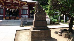 薭田神社 狛犬 阿