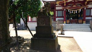 薭田神社 狛犬 吽