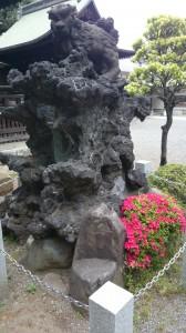 平塚神社 狛犬 (2)