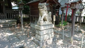 御園神社 狛犬 阿