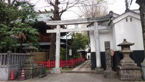 下谷神社 裏参道