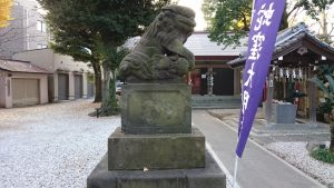 上神明天祖神社 狛犬 (1)