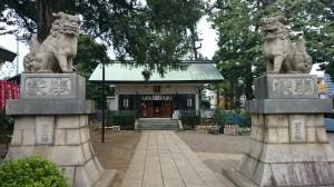 下神明天祖神社 品川区内最大狛犬