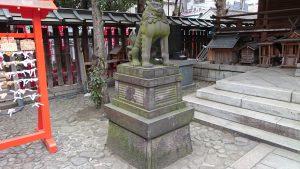 下谷神社 狛犬 吽