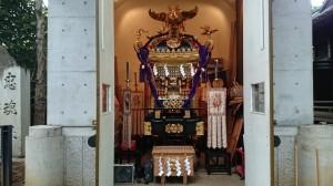 戸越八幡神社 神輿庫御開帳