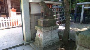 戸越八幡神社 拝殿前狛犬 (2)