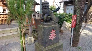 七社神社 狛犬 阿