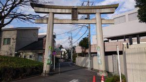 七社神社 参道入口大鳥居