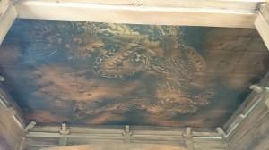 廣尾稲荷神社 拝殿天井墨龍図