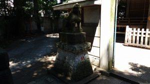 戸越八幡神社 拝殿前狛犬 (1)