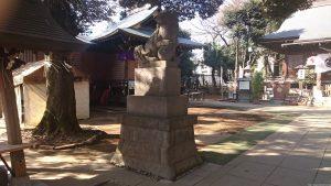 太子堂八幡神社 狛犬 吽