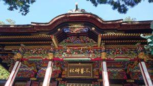 三峯神社 拝殿彫刻 (1)