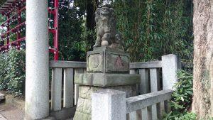 居木神社 大正12年12月狛犬 阿