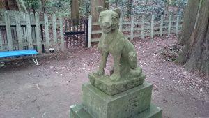 寶登山神社 奥宮 狼像 (2)