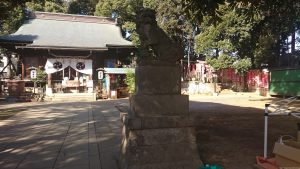 太子堂八幡神社 狛犬 阿