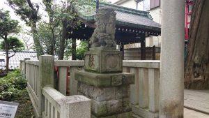 居木神社 大正12年12月狛犬 吽