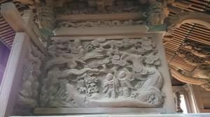 大井鹿嶋神社 旧社殿鎌倉彫 (3)