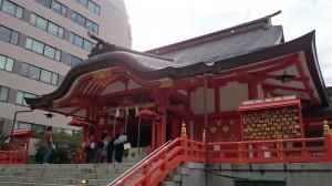 花園神社 拝殿 (2)