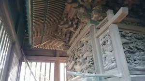 大井鹿嶋神社 旧社殿鎌倉彫 (4)