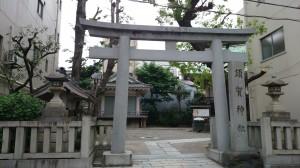 須賀神社 鳥居と社号碑