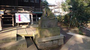 千束八幡神社 狛犬 阿