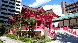 成子天神社 社殿全景