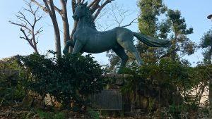 千束八幡神社(洗足池八幡宮) 名馬池月之像 (2)