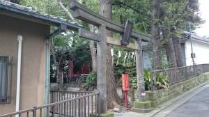 荒藺ヶ崎熊野神社 寛政8年鳥居