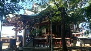 新宿諏訪神社 社殿 (1)
