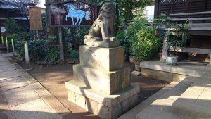 千束八幡神社 狛犬 吽