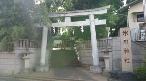 幡ヶ谷氷川神社 鳥居と社号碑