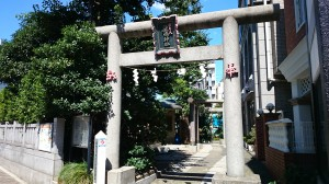 厳嶋神社(抜弁天) 南側鳥居