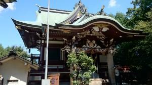 新宿諏訪神社 社殿 (2)