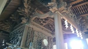 大井鹿嶋神社 旧社殿鎌倉彫 (2)