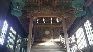 大井鹿嶋神社 旧社殿鎌倉彫 (1)