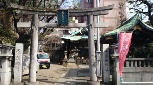 幸稲荷神社 鳥居と社号標