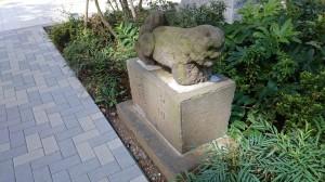 成子天神社 安永四年造狛犬