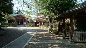 筑土八幡神社 境内