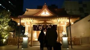 福徳神社 ライトアップ (4)
