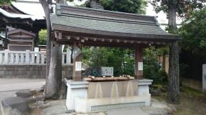 桐ヶ谷氷川神社 手水舎